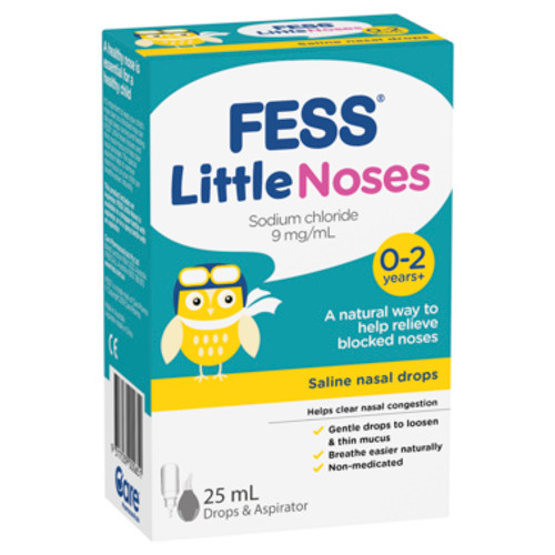 Fess Nasal Drops + Aspirator Little Noses 25ml at Blooms The Chemist
