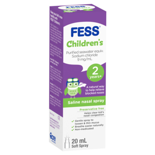 Fess Nasal Spray Childrens 20ml at Blooms The Chemist