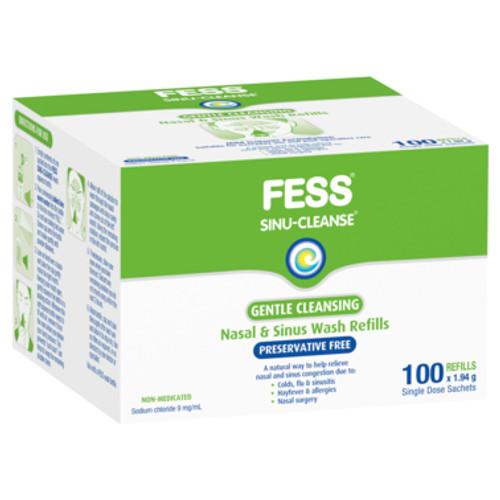 Fess Nasal Gentle Wash Sachet Sinu-Cleanse Hypertonic 100pk