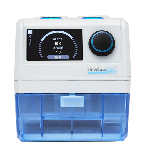 DeVilbiss Blue AutoPlus CPAP w/ heated humidifier