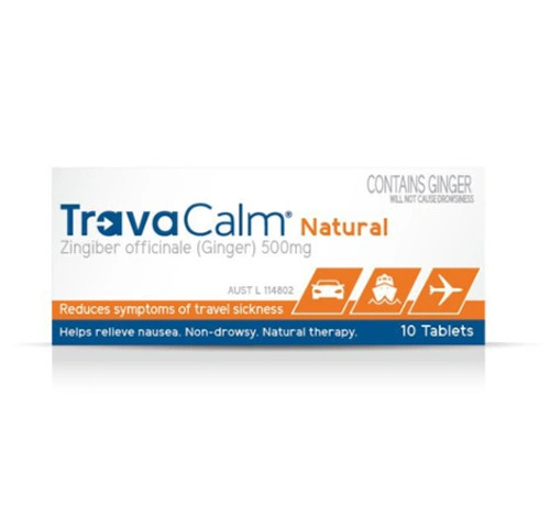 Travacalm Natural Travel Sickness Prevention Tablets 10pk