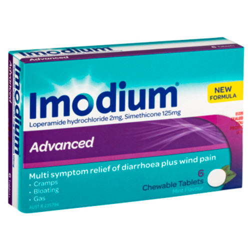 Imodium Advanced Chewable Tablets 6 Pack at Blooms The Chemist