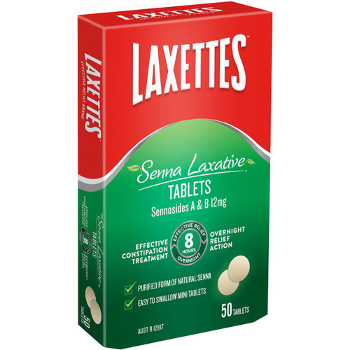 Laxettes Constipation Relief with Senna Tablets 50 Pack