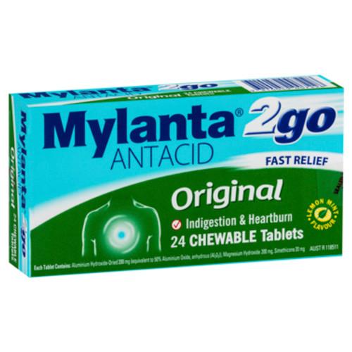 Mylanta Antacid 2Go Chewable Tablets 24 Pack