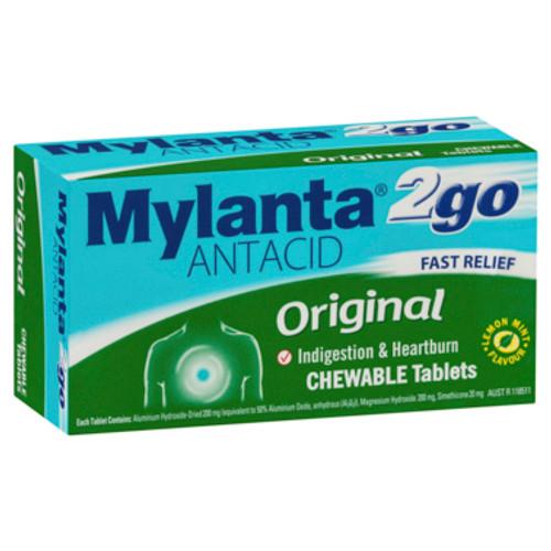 Mylanta Antacid 2Go Chewable Tablets 100 Pack