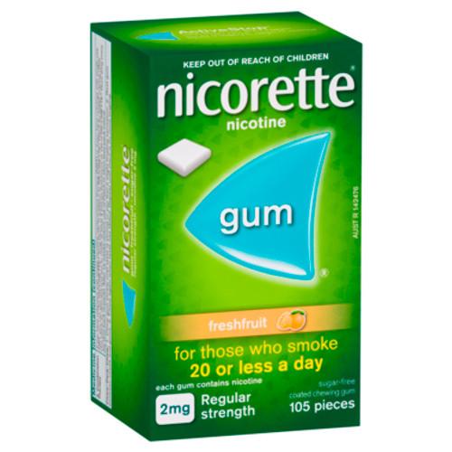 Nicorette Gum Freshfruit 2mg Regular Strength 105 Pack at Blooms The Chemist