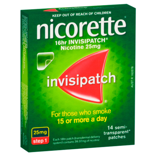 Nicorette 16hr Invisipatch Step 1 25mg 14 Pack at Blooms The Chemist