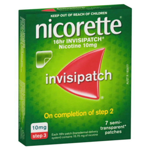 Nicorette 16 Hour Invisipatch Step 3 7 Pack