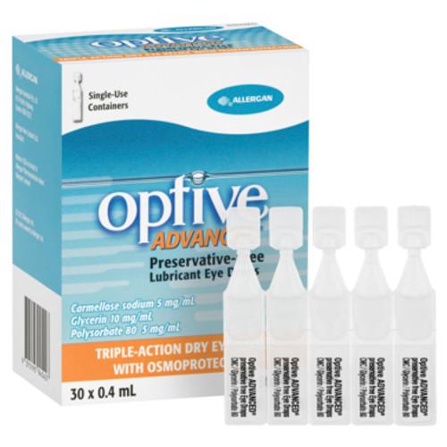 Optive AdvancedLubricant Eye Drops 30 x 0.4mL Vials