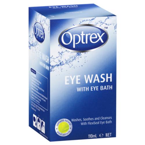 Optrex Fresh Eyes Liquid Eye Wash Bath 110ml