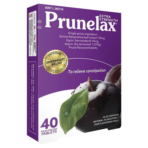 Prunelax Extra Strength Constipation Relief Tablets 40pk