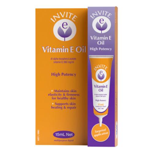 Invite E Vitamin E Oil 15mL at Blooms The Chemist