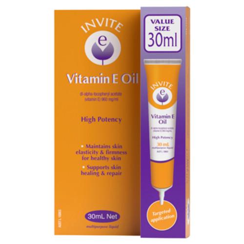 Invite E Vitamin E Oil 30mL at Blooms The Chemist