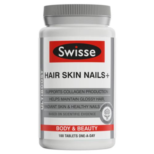 Swisse Ultiboost Hair Skin Nails+ Tablets 100 Pack