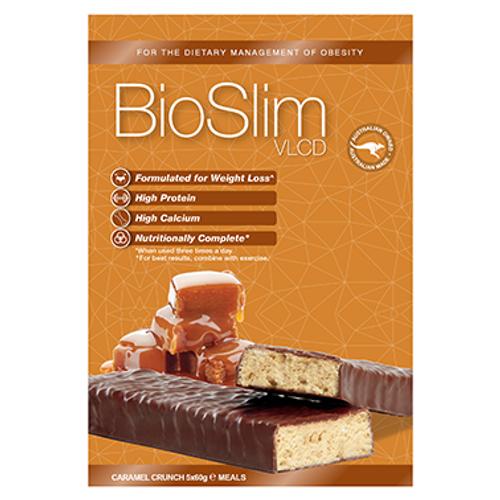 BioSlim VLCD Bar Caramel Crunch 5x60g