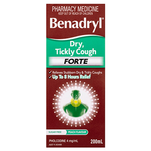 Benadryl Dry Tickly Cough Forte Liquid 200mL
