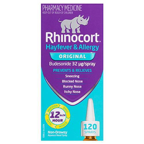 Rhinocort Hayfever & Allergy Nasal Spray Non-Drowsy Extra Strength 120 Sprays