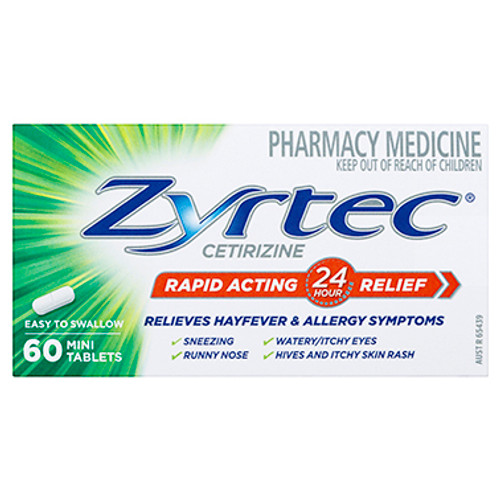 Zyrtec Rapid Acting Allergy & Hayfever Tablets 60 Pack