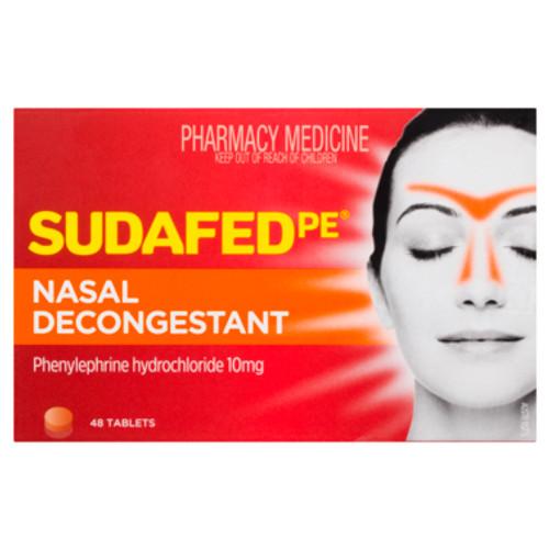 Sudafed PE Nasal Decongestant 48 Tablets