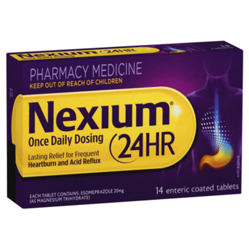 Nexium 24HR Once Daily 20mg - 14 tablets