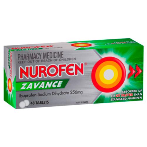 Nurofen Zavance Fast Pain Relief Tablets 256mg Ibuprofen 48 pack