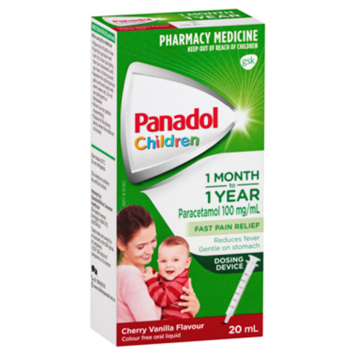 Panadol Children 1 Month to 1 Year Baby Drops with Dosing Device, Fever & Pain Relief, 20 mL