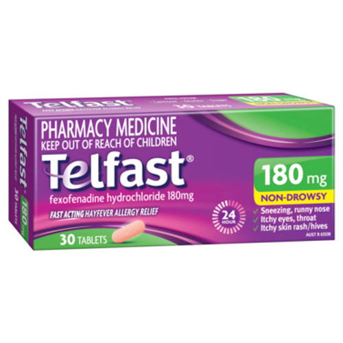 Telfast 180mg 30 Tablets