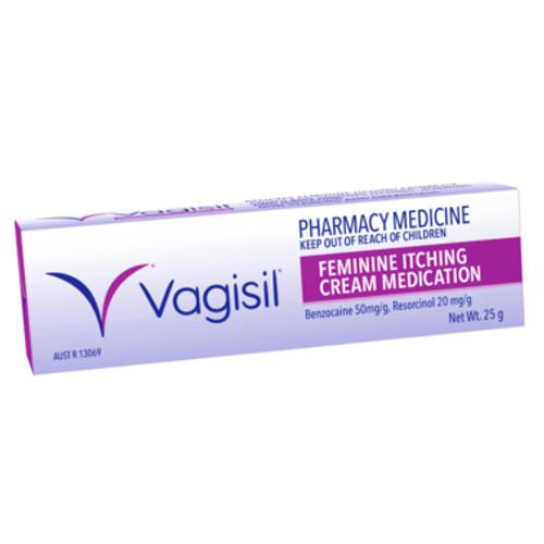 Vagisil Feminine Itching Cream Medication 25g