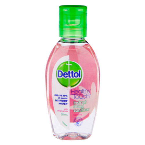 Dettol Healthy Touch Liquid Antibacterial Instant Hand Sanitiser Chamomile 50mL