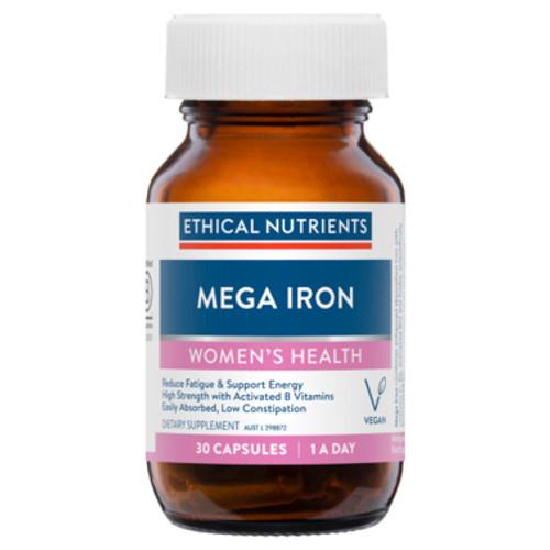 Mega Iron with Activated B Vitamins 30 Capsules