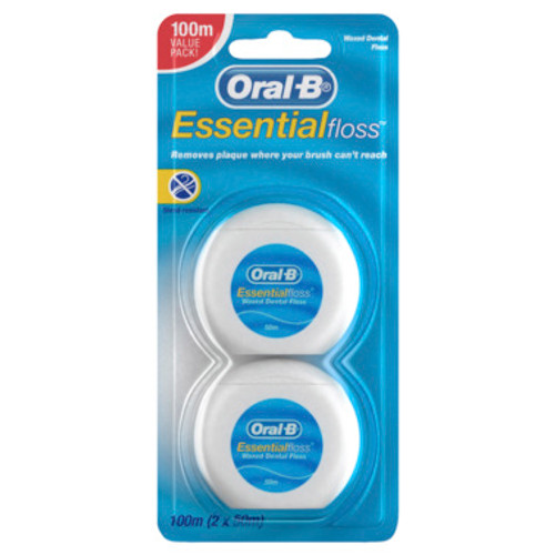 Oral-B Essential Floss Dental Floss 2x50m