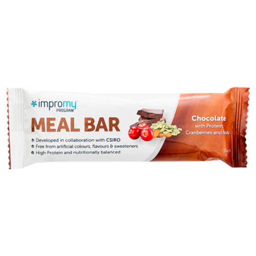 Impromy Meal Bar Chocolate with Protein, Cranberries & Nuts 55g