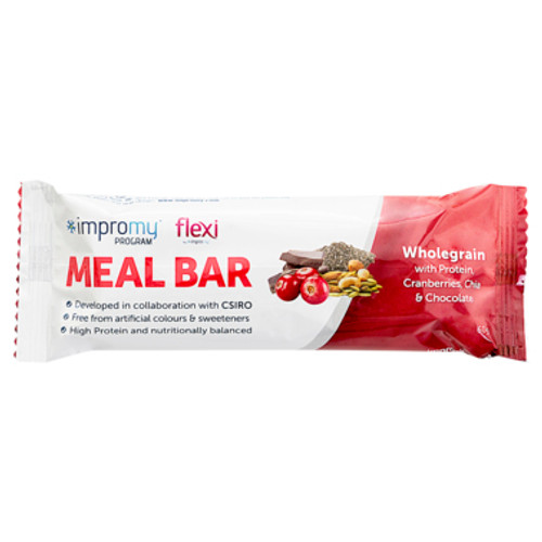 Impromy Flexi Meal Bar Wholegrain with Protein Cranberries, Chia & Chocolate 60g