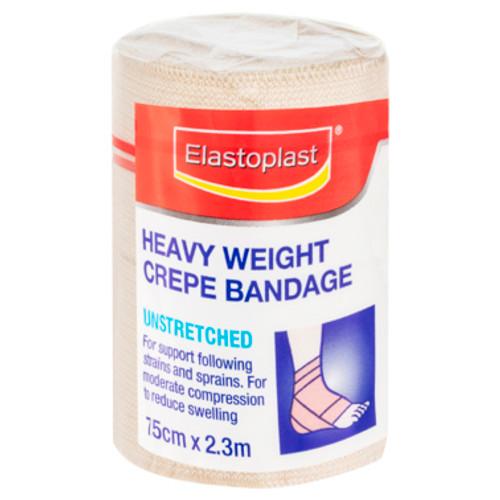 Elastoplast Heavy Weight Bandage Crepe Unstretched 7.5cm x 2.3m