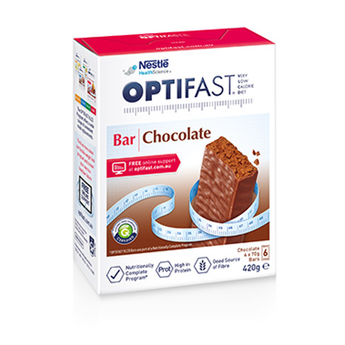 Optifast VLCD Chocolate Bar online in Australia at Blooms The Chemist