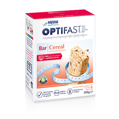 Optifast VLCD Cereal Bar in Australia at Blooms The Chemist