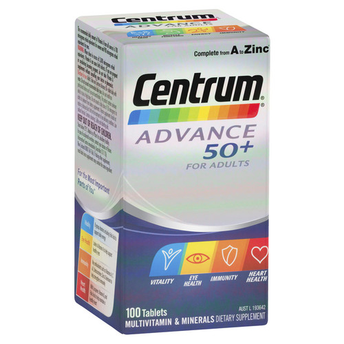 Centrum Advance 50 in Australia at Blooms The Chemist