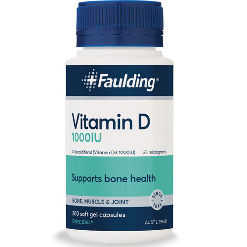 Faulding Vitamin D online in Australia at Blooms The Chemist