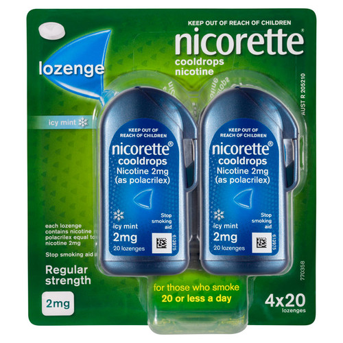 Nicorette Cooldrops online at Blooms The Chemist