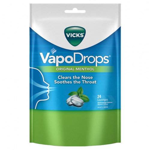 Vicks VapoDrops Original Menthol online at Blooms The Chemist