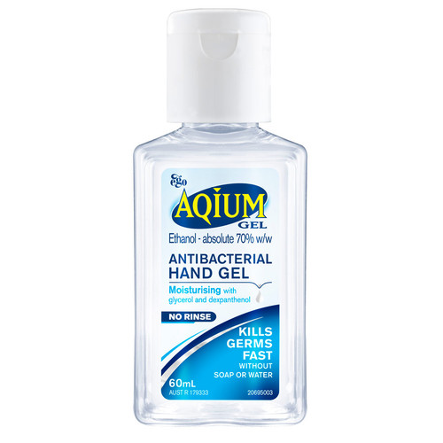 Aqium Antibacterial Hand Sanitiser 60ml at Blooms The Chemist