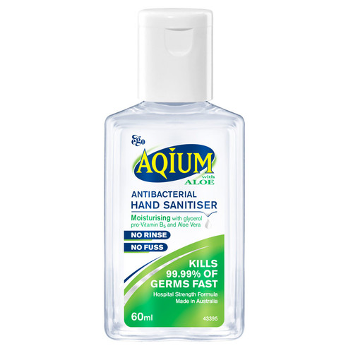 Ego Aqium Aloe Hand Sanitiser 60ml online at Blooms The Chemist