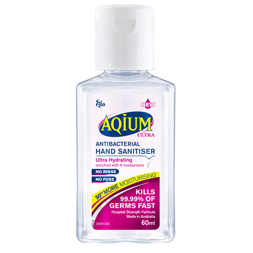 Ego Aqium Ultra 60ml Hand Sanitiser online at Blooms The Chemist