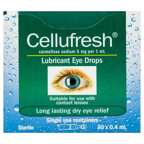 Cellufresh Eye Drops 0.4ml 30 Vials Blooms The Chemist