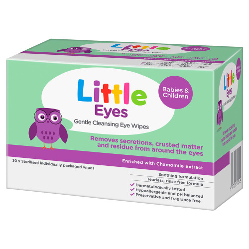 Little Eyes Cleansing Wipes 30 in Australia at Blooms The Chemist