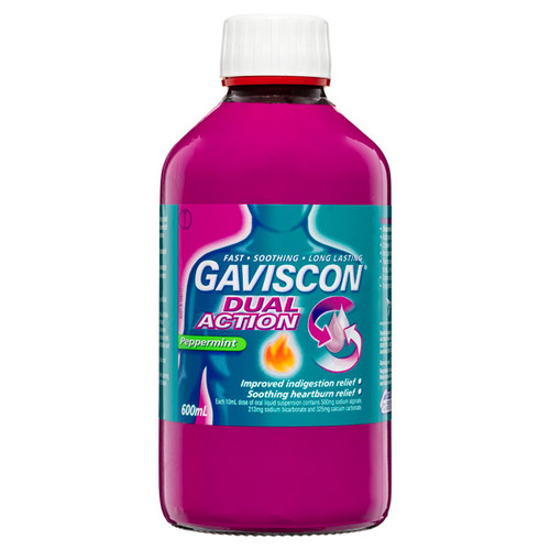 Gaviscon Double Action Liquid 600ml online at Blooms The Chemist