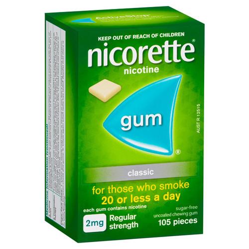 Nicorette Classic Gum in Australia at Blooms the Chemist