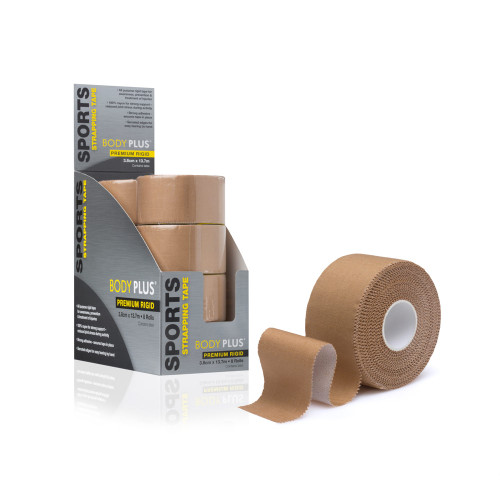 Body Plus Rigid Strapping Tape unrolled