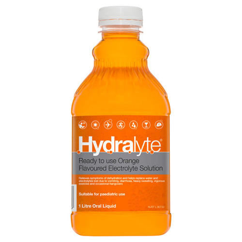Hydralyte Orange in Australia at Blooms the Chemist