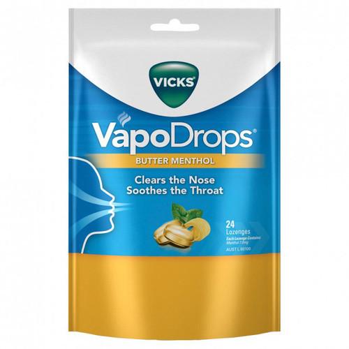 Vicks VapoDrops Butter Menthol online at Blooms the Chemist